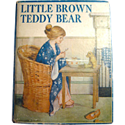 Little Brown Teddy Bear Vintage Childrens Book - Little Giant Books Series - Violet Edgecombe Jenkins Illustrator - Teddy Bear Book