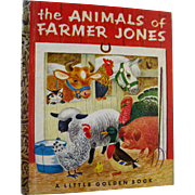 The Animals of Farmer Jones First Edition Little Golden Book Illustrated by Richard Scarry - Color Illustrations - LGB 1st Edition