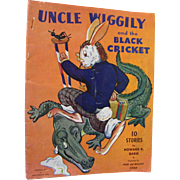 Uncle Wiggily And The BLack Cricket 10 Stories By Howard Garis Illustrated by Mary and Wallace Stover - 1943 American Crayon Co.