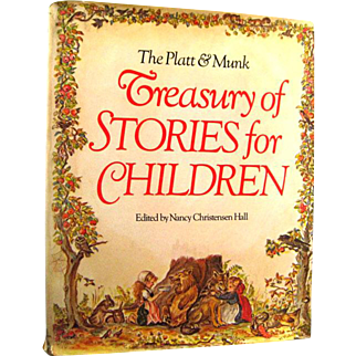 Treasury Of Stories For Childrens With Illustrations by Tasha Tudor And Other - Little Black Sambo - Illustrated Book - Gift Book