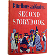 Better Homes And Gardens Second Storybook Childrens Book 1952 - Illustrated Book - Childrens Literature - Gift Book