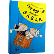 The Pop Up Book Travels of Babar by Jean De Brunhoff - Childrens Book - Vintage Pop Up Childrens Book