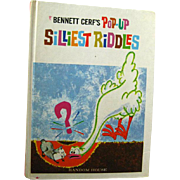 Bennett Cerfs Pop Up Silliest Riddles - Childrens Book - Vintage Pop Up Childrens Book - Riddle Book