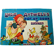 Lucie Attwells Pop Up Book Of Rhymes - Childrens Book - Vintage Pop Up Childrens Book - Nursery Rhyme Book