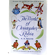 The World Of Christopher Robin by A A Milne Full Color Illustrations by E H Shepard - Vintage Kids Book - Childrens Book Series