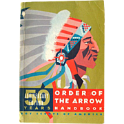Order Of The Arrow Handbook 50th Anniversary Edition - Boy Scout Handbook - Vintage Boy Scout Book - 1960s Boy Scout Hand Book