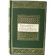 A Treasury Of Favorite Poems Antique Poetry Book 1891