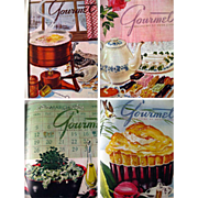 Vintage Gourmet Magazine Collection 1945 Bound In Book Form - Vintage Cooking Magazine - Foodie Gift