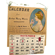 Antique Personalized Calendar 1902 - Antique Ephemera