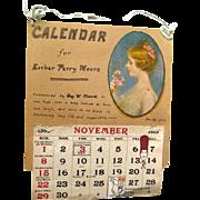 Antique Personalized Calendar 1902 - Antique Ephemera