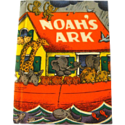 Noahs Ark Vintage Childrens Book - 1940s Collectible Book - Quiet Book - Vintage Kids Book