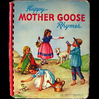 Happy Mother Goose Rhymes - Nursery Books - Childrens Books - Nursery Rhymes - Board Book - Kids Rhymes - Baby Rhymes