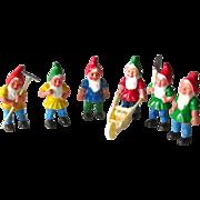 Miniature Garden Gnomes - Dollhouse Gnomes - Plastic Dwarves - Gardening Dwarf