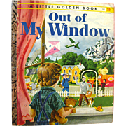 Childrens Little Golden Book Out Of My Window A Edition - First Edition LGB - Nursery Decor