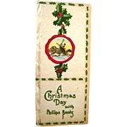 Phillips Brooks A Christmas Day - Holiday Book - Christmas Decor - Vintage Christmas