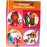 The Rand McNally Book Of Favorite Nursery Classics - Vintage Childrens Book - Vintage Kids Books
