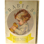 BABIES Vintage Illustrated Book - Nursery Decor - Baby Illustrations