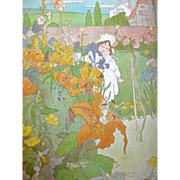 Art Nouveau A Childs Garden Of Verses Book - Illustrated by Mars and Squire - Gift Book