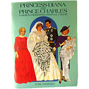 Princess Diana and Prince Charles Fashion Paper Dolls - Tom Tierney Paper Dolls - Uncut Paperdolls