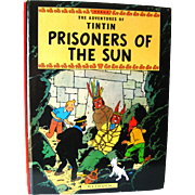 Vintage Graphic Novel The Adventures of Tintin Prisoners of The Sun - Vintage Comic Strip - Comic Book Character