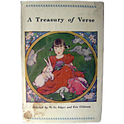 Childrens Nursery Rhyme Collection - A Treasury of Verse Selected by M G Edgar - Collectible Kids Books