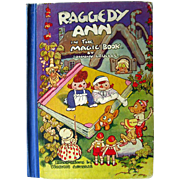 Raggedy Ann In The Magic Book - Johnny Gruelle Illustrated Book - Collectible Kids Books