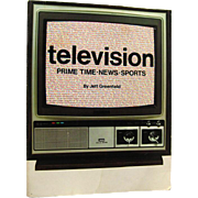 Vintage Television History Book - TELEVISION - Christmas Gift - Sports Television - Vintage TV
