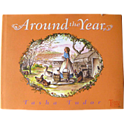 Around The Years by Tasha Tudor - Vintage Kids Book - Quiet Book - Book Lovers Gift - Gift Book - Christmas Book - Holiday Book