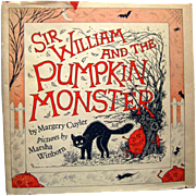 RARE Childrens Book - Sir William and the Pumpkin Monster - Halloween Book