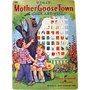 Peek A Boo Book Visit Mother Goose Town With Jack and Jill - RARE Childrens Book