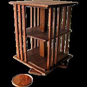 Dollhouse Rotating Bookcase - Dollhouse Miniatures - Dollhouse Library