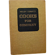 Celebrity Cookbook - Helen Corbitt Cooks For Company - Vintage Recipe Book - Vintage Entertaining Book