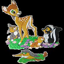 Vintage Bambi and Friends Nursery Wall Hanging / Baby Decor / Nursery Decor / Walt Disney