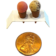 Dollhouse Ice Cream Cones - Miniature Food - Dollhouse Food