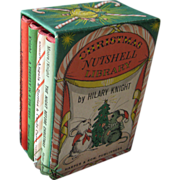 Christmas Nutshell Library Miniature Boxed Book Set by Hilary Knight / Four Book Set / Childrens Book / Gift Book / Holiday Book Set