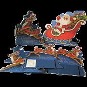 Santa and Reindeer 3d Christmas Scene Hallmark Night Before Christmas Diorama / Holiday Decor / Home Decor / Holiday Decoration