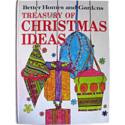 Better Homes and Gardens Treasury of Christmas Ideas / Pattern Book / Vintage Crafting Book / Home Decor / Retro Crafts