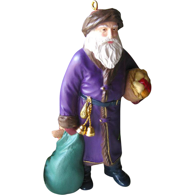 Merry Olde Santa Hallmark Keepsake Ornament Collectors Edition Number 6 / Christmas Ornament / Collectible Ornament