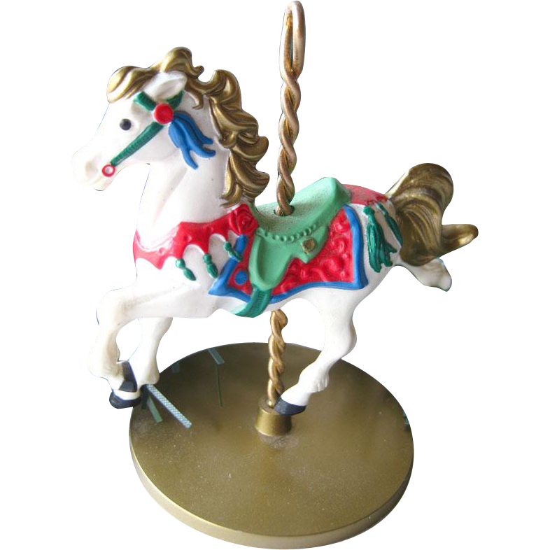 Snow Carousel Horse Hallmark Keepsake Ornament / Christmas Ornament / Christmas Tree / Vintage Hallmark