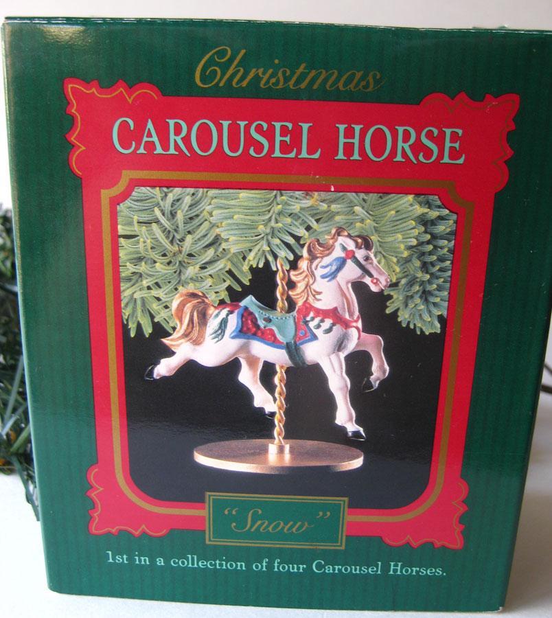 Snow Carousel Horse Hallmark Keepsake Ornament / Christmas ...
