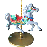 Holly Carousel Horse Hallmark Keepsake Ornament / Christmas Ornament / Christmas Tree / Vintage Hallmark