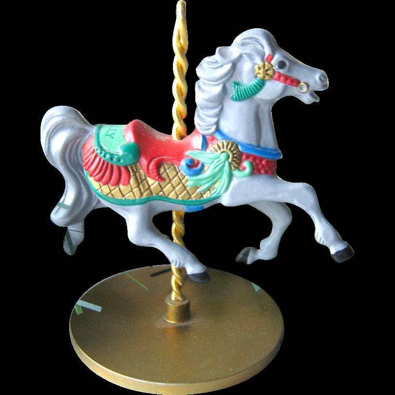 Holly Carousel Horse Hallmark Keepsake Ornament / Christmas Ornament / Christmas Tree / Vintage Hallmark