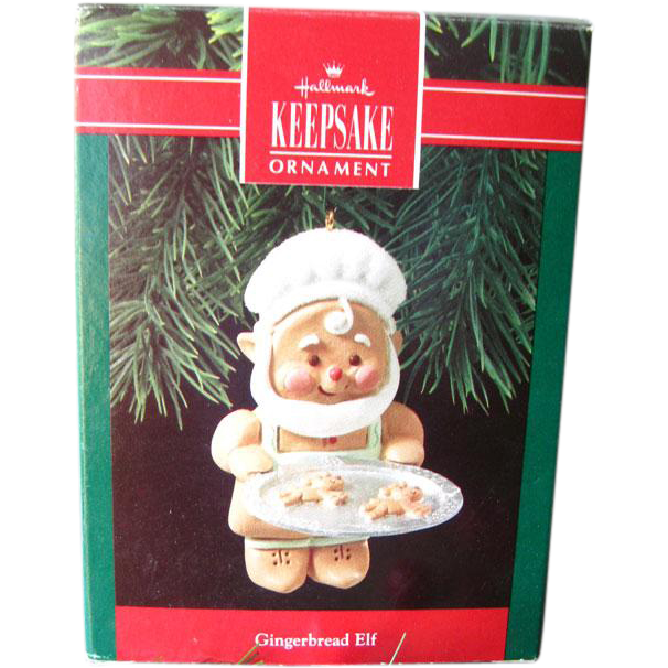 Hallmark Gingerbread Elf Keepsake Ornament / Christmas Tree / Vintage Hallmark / Holiday Decor