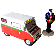 Special Delivery Postman and Postal Truck Department 56 Snow Village / Retired Snow Village Figures / Holiday Decor / Christmas Decor