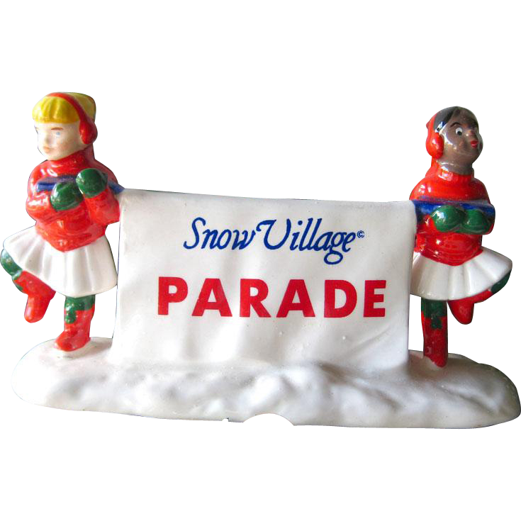 Holiday Decor Come Join The Parade Department 56 Snow Village / Retired Snow Village Figures / Holiday Decor / Christmas Decor