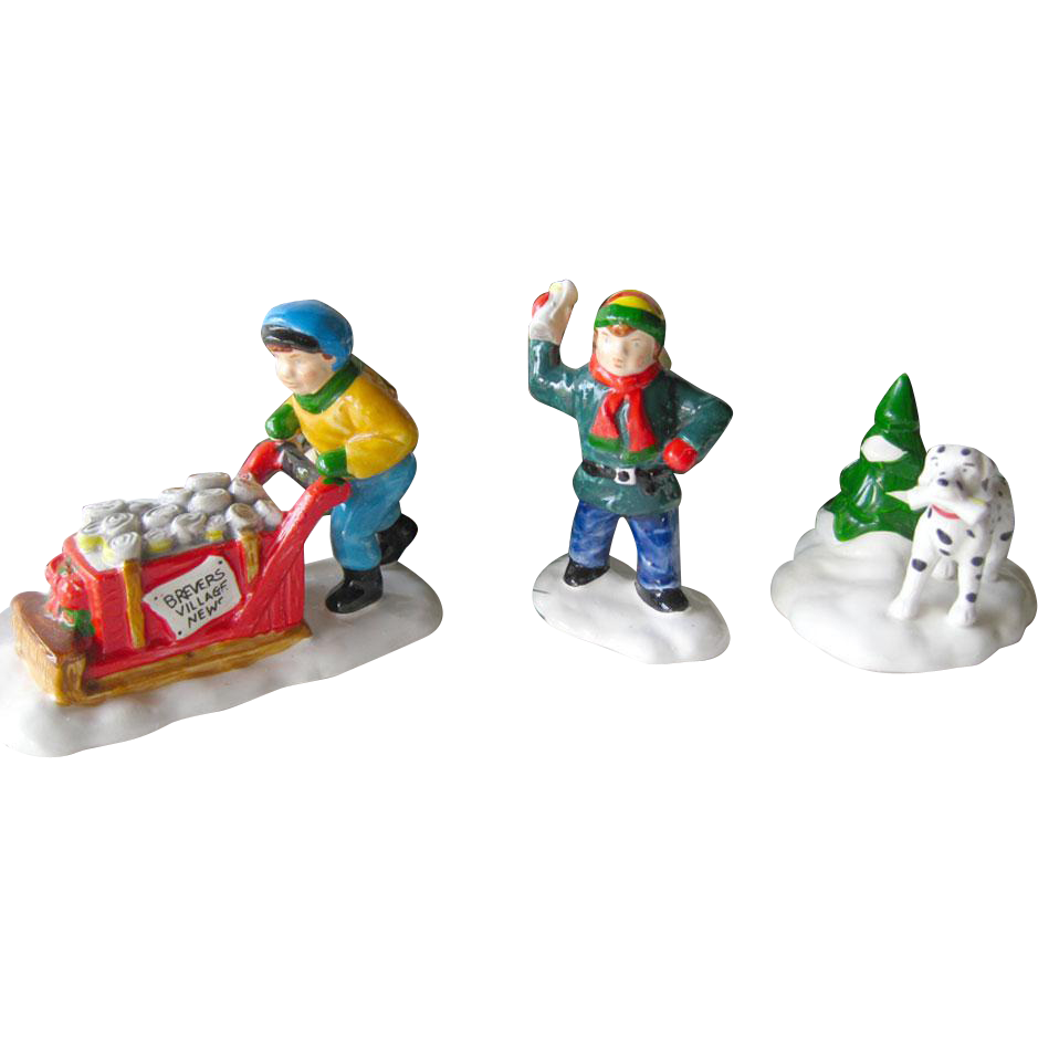 Holiday Decor Early Morning Deliver Figures From Department 56 Snow Village / Retired Snow Village Figures / Holiday Decor / Christmas Decor