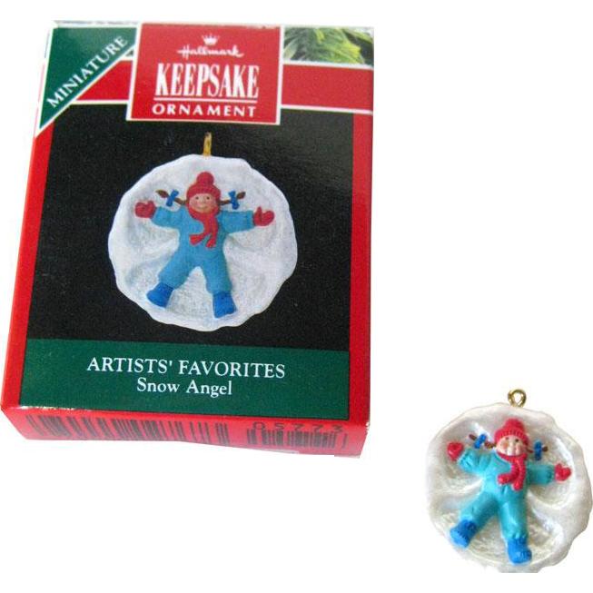 Julia Lee Snow Angel Hallmark Keepsake Ornament / Christmas Ornament / Christmas Tree / Vintage Hallmark