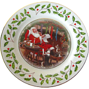 Lenox Cookies For Santa 1998 Holiday Plate - Vintage Holiday Decor - Lenox China Christmas Plate - Lenox Annual Holiday Plate