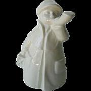 White Goebel Town Crier Made in West Germany - Goebel Ceramic Boy - Collectible Figurine - Hummel Figurine