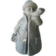 Grey Goebel Town Crier Made in West Germany - Goebel Ceramic Boy - Collectible Figurine - Hummel Figurine